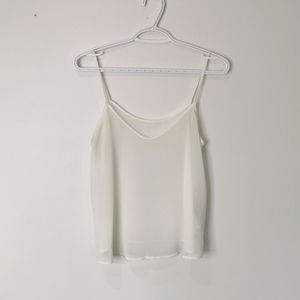 Tops - Sheer white camisole